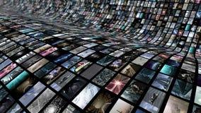 Κυρτός τηλεοπτικός τοίχος Στοκ φωτογραφία με δικαίωμα ελεύθερης χρήσης