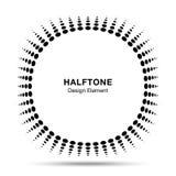 Κυρτό διαστρεβλωμένο μαύρο αφηρημένο διανυσματικό κύκλων σχέδιο εμβλημάτων λογότυπων σημείων πλαισίων ημίτονο για το νέο technolo Στοκ Φωτογραφία