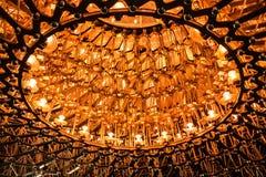 Κυψέλη του φωτός και του χάλυβα που φωτίζονται τη νύχτα Στοκ φωτογραφίες με δικαίωμα ελεύθερης χρήσης