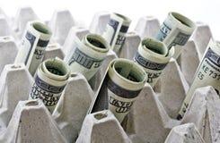 Κυλημένα επάνω δολάρια στοκ εικόνα με δικαίωμα ελεύθερης χρήσης