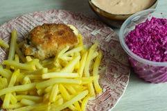 Κυλημένο γεύμα στηθών κοτόπουλου Στοκ Φωτογραφία