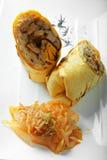 Κυλημένο σάντουιτς βόειου κρέατος επάνω από την άποψη Στοκ φωτογραφία με δικαίωμα ελεύθερης χρήσης