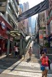 Κυλιόμενες σκάλες κεντρικός-μέσος-επιπέδων στο Χονγκ Κονγκ Στοκ Εικόνες