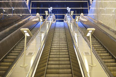 Κυλιόμενη σκάλα μετρό της Μόσχας Στοκ Εικόνα