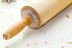 Κυλώντας καρφίτσα για τη ζύμη μπισκότων Στοκ φωτογραφία με δικαίωμα ελεύθερης χρήσης