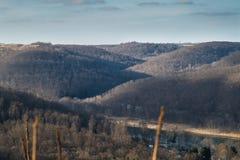 Κυλώντας λόφοι στην Πενσυλβανία στοκ φωτογραφία