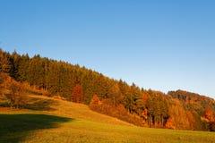 Κυλώντας λόφοι τοπίων πτώσης από το ηλιοβασίλεμα Στοκ εικόνα με δικαίωμα ελεύθερης χρήσης