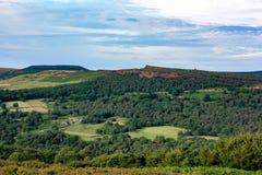 Κυλώντας λόφοι του Derbyshire Στοκ Φωτογραφία