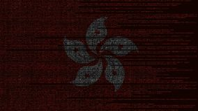 Κωδικός πηγής και σημαία του κορναρίσματος Kong Ψηφιακή τεχνολογία ή προγραμματισμός σχετική loopable ζωτικότητα διανυσματική απεικόνιση