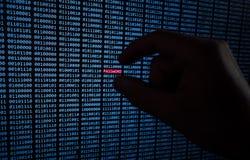 Κωδικός πρόσβασης που κλέβεται στοκ φωτογραφία