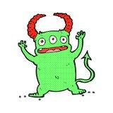 κωμικά κινούμενα σχέδια λίγος διάβολος Στοκ Φωτογραφία