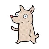 κωμικά κινούμενα σχέδια λίγος κυματισμός σκυλιών Στοκ Φωτογραφίες