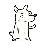 κωμικά κινούμενα σχέδια λίγος κυματισμός σκυλιών Στοκ εικόνες με δικαίωμα ελεύθερης χρήσης