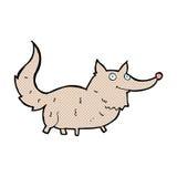 κωμικά κινούμενα σχέδια λίγος λύκος Στοκ εικόνα με δικαίωμα ελεύθερης χρήσης