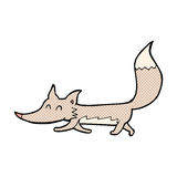 κωμικά κινούμενα σχέδια λίγος λύκος Στοκ Φωτογραφία