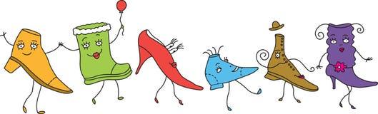 κωμικά παπούτσια Διανυσματική απεικόνιση