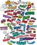 κωμικές λέξεις βιβλίων διανυσματική απεικόνιση