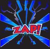 Κωμική λέξη Zap διανυσματική απεικόνιση