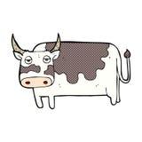 κωμική αγελάδα κινούμενων σχεδίων Στοκ φωτογραφία με δικαίωμα ελεύθερης χρήσης