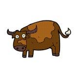κωμική αγελάδα κινούμενων σχεδίων Στοκ εικόνα με δικαίωμα ελεύθερης χρήσης