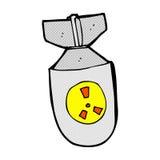 κωμική ατομική βόμβα κινούμενων σχεδίων Στοκ Εικόνες
