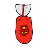 κωμική ατομική βόμβα κινούμενων σχεδίων Στοκ φωτογραφίες με δικαίωμα ελεύθερης χρήσης