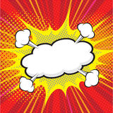 Κωμική λεκτική φυσαλίδα, κωμικό backgound Στοκ εικόνες με δικαίωμα ελεύθερης χρήσης