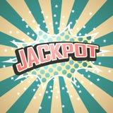 Κωμική λεκτική φυσαλίδα τζακ ποτ διάνυσμα Στοκ εικόνα με δικαίωμα ελεύθερης χρήσης
