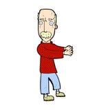κωμική εξήγηση ατόμων κινούμενων σχεδίων balding Στοκ φωτογραφία με δικαίωμα ελεύθερης χρήσης