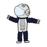 κωμική επίτευξη αστροναυτών κινούμενων σχεδίων Στοκ Εικόνα