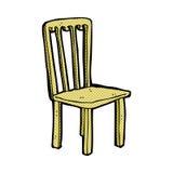 κωμική παλαιά καρέκλα κινούμενων σχεδίων Στοκ εικόνα με δικαίωμα ελεύθερης χρήσης