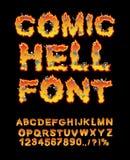 Κωμική πηγή κόλασης κόλαση ABC Επιστολές πυρκαγιάς Αμαρτωλοί στο hellfire ελεύθερη απεικόνιση δικαιώματος