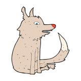 κωμική συνεδρίαση λύκων κινούμενων σχεδίων Στοκ Εικόνα