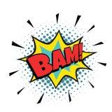 Κωμική φυσαλίδα BAM ελεύθερη απεικόνιση δικαιώματος