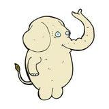 κωμικός αστείος ελέφαντας κινούμενων σχεδίων Στοκ Φωτογραφία
