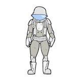 κωμικός αστροναύτης κινούμενων σχεδίων Στοκ Φωτογραφίες