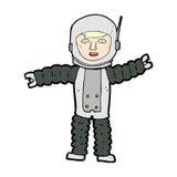κωμικός αστροναύτης κινούμενων σχεδίων Στοκ εικόνες με δικαίωμα ελεύθερης χρήσης