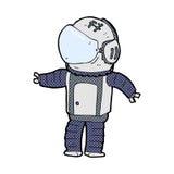 κωμικός αστροναύτης κινούμενων σχεδίων Στοκ Φωτογραφία