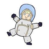 κωμικός αστροναύτης κινούμενων σχεδίων Στοκ φωτογραφία με δικαίωμα ελεύθερης χρήσης
