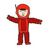 κωμικός αστροναύτης κινούμενων σχεδίων Στοκ φωτογραφίες με δικαίωμα ελεύθερης χρήσης