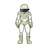 κωμικός αστροναύτης κινούμενων σχεδίων Στοκ Εικόνες