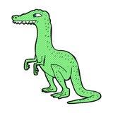 κωμικός δεινόσαυρος κινούμενων σχεδίων Στοκ Εικόνα