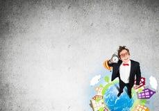 Κωμικός επιχειρηματίας στα κόκκινα γυαλιά Στοκ φωτογραφία με δικαίωμα ελεύθερης χρήσης