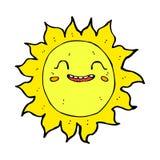 κωμικός ευτυχής ήλιος κινούμενων σχεδίων Στοκ φωτογραφία με δικαίωμα ελεύθερης χρήσης