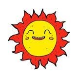 κωμικός ευτυχής ήλιος κινούμενων σχεδίων Στοκ Εικόνες