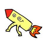 κωμικός ευτυχής πύραυλος κινούμενων σχεδίων Στοκ εικόνες με δικαίωμα ελεύθερης χρήσης
