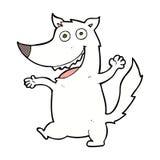κωμικός ευτυχής λύκος κινούμενων σχεδίων Στοκ Φωτογραφία
