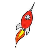 κωμικός διαστημικός πύραυλος κινούμενων σχεδίων Στοκ Εικόνα