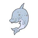 κωμικός καρχαρίας κινούμενων σχεδίων Στοκ εικόνες με δικαίωμα ελεύθερης χρήσης