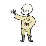 κωμικός κυματισμός σκελετών κινούμενων σχεδίων Στοκ φωτογραφία με δικαίωμα ελεύθερης χρήσης
